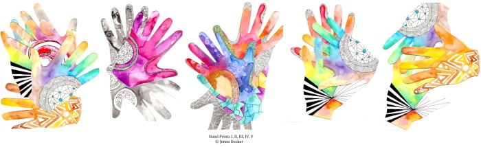 Hand Prints 1-5 Jenna Decker